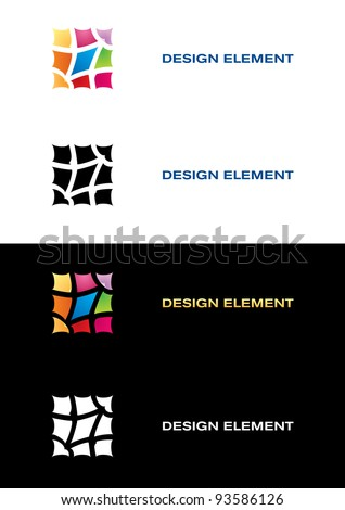 Raster version. Logo templates. Color tile. Black and white backgrounds.