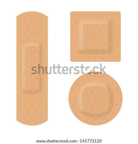 Raster version. Medical plaster. Illustration on white background for design