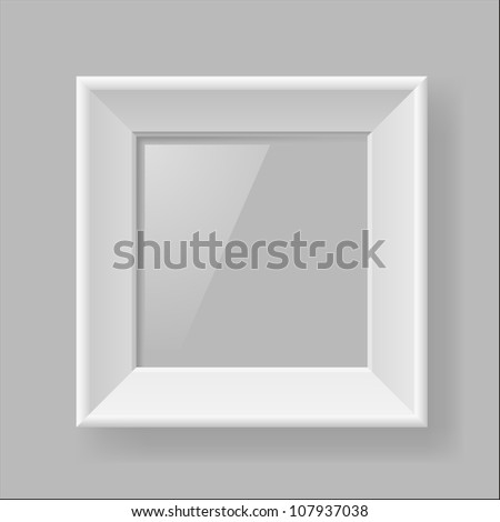 Raster version. Multifunction white Square frame on Gray Background