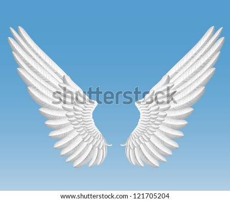 raster version of angel wings