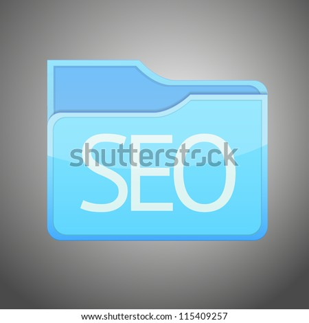 raster version of folder icon with seo inside