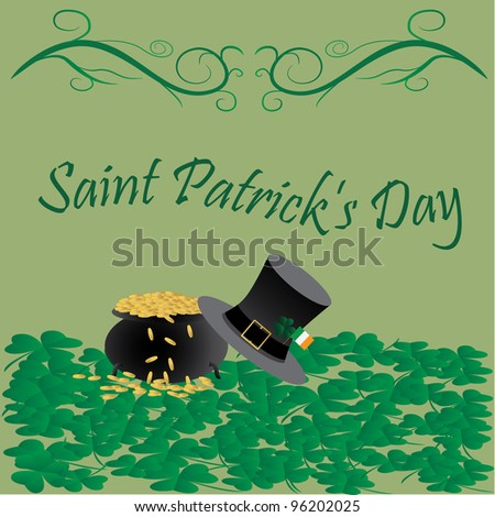 raster version of Saint Patrick's day greetings.