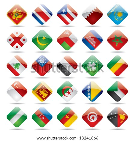 Raster version of vector set world flag icons 4