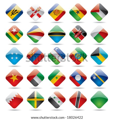 Raster version of vector set world flag icons 5