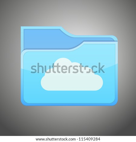 raster version of version of cloud  folder icon
