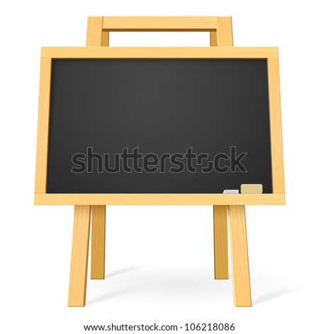 Raster version. School board. Illustration for design on white background