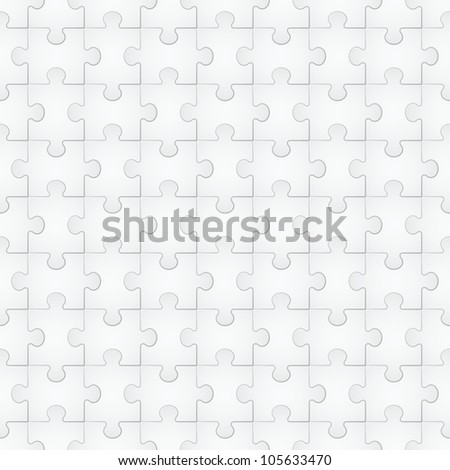 Raster version. Seamless texture of puzzle. Illustration for design on white background