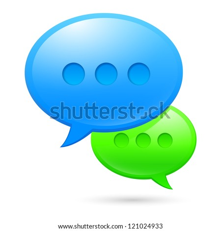 Raster version. Sms icons. Illustration on white background for design