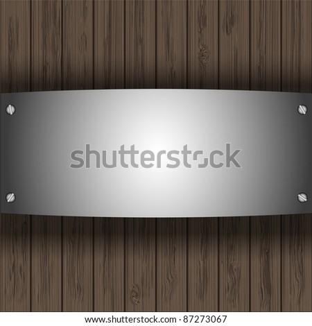 raster version.  steel plate on wooden boards for your design