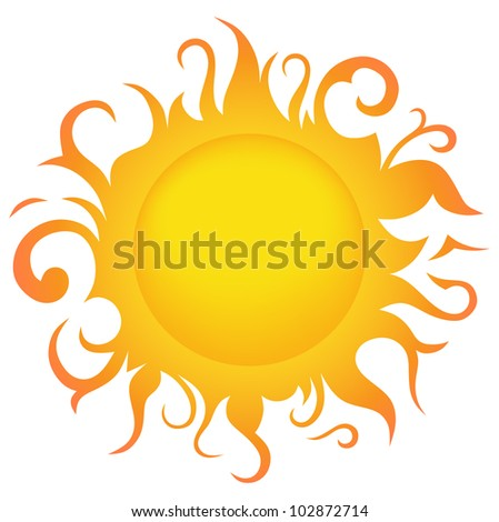 Raster version. Symbol sun