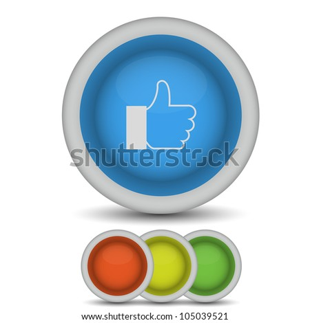 raster version.  thumbs up icon on white