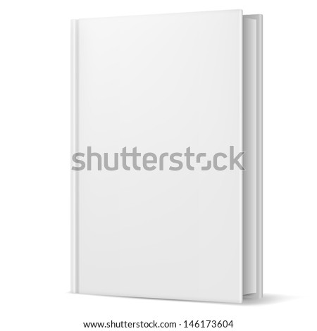 Raster version. White book. Illustration on white background for design