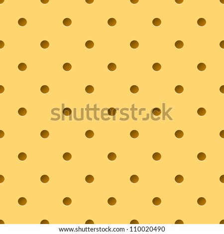 Raster version. Yellow Illustration of Perforated leather. Background for design