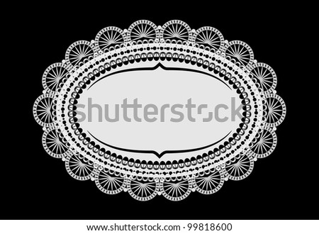 raster vintage doily mat with place for your text, vector version available - stock photo