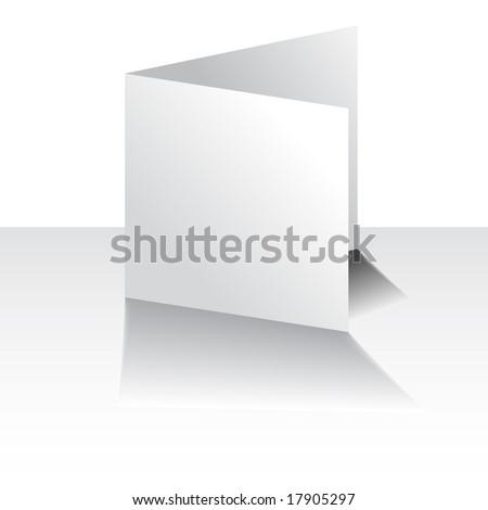 Raster - White greeting card for christmas, birthday or weddings