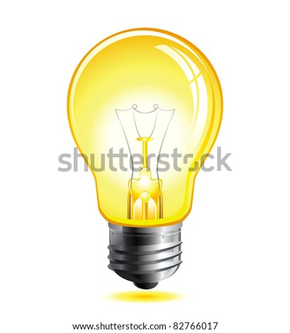 Raster yellow light bulb