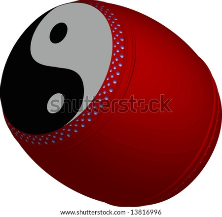 rasterized of chinese yin yang drum for dragon dance