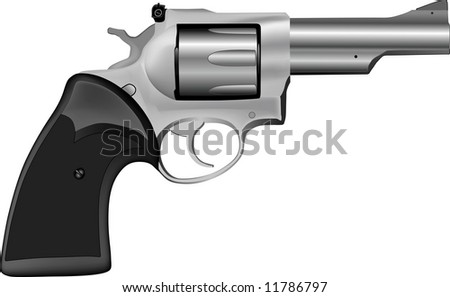 Rasterized of 3D realistic hand gun