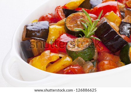 Ratatouille, famous French dish from Provence.