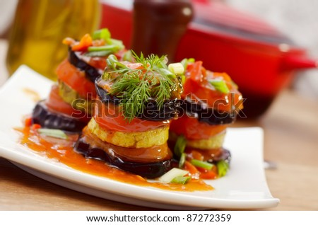 Ratatouille on a white plate