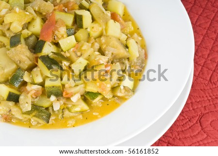 Ratatouille Vegetable Stew - stock photo