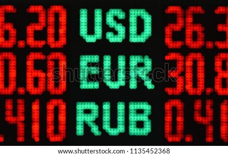 rate of foreign currencies on the scoreboard #1135452368