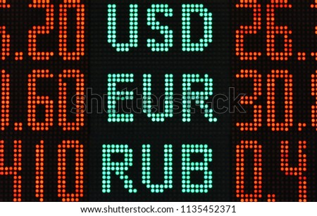 rate of foreign currencies on the scoreboard #1135452371