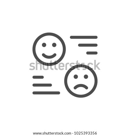 Rating line icon isolated on white