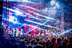 Rave concert party EDM festival