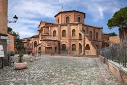 Ravenna, Emilia Romagna, Italy: the ancient Basilica of San Vitale, medieval catholic church built in 547