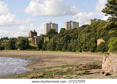 Ravenscraig Castle, on the Firth of Forth, Kircaldy, Fife, Scotland, UK