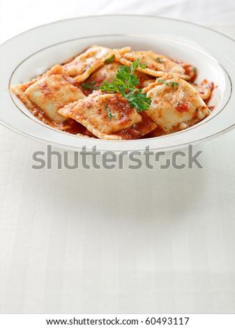 ravioli with extra space