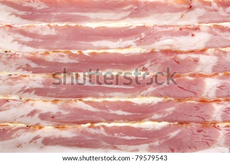 raw bacon , for background or texture