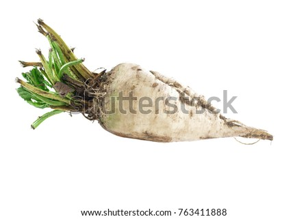raw beet sweet on a white background