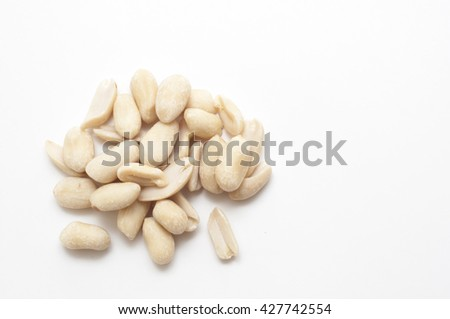 raw cashew over white background #427742554