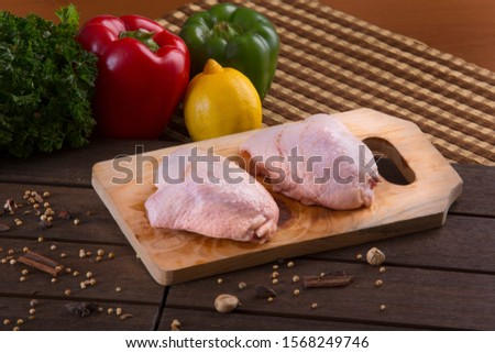 raw chicken bone chicken raw chicken wing with spice raw chicken breast leg #1568249746