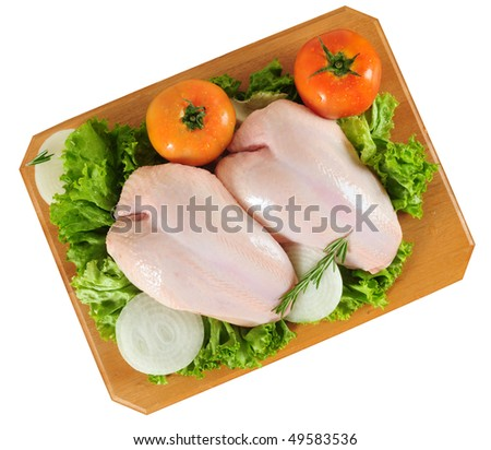 Raw chicken. Isolated