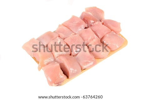 raw chicken meat on plate