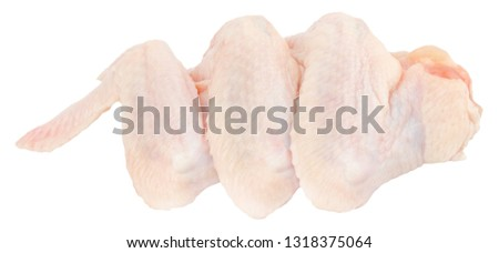 Raw chicken on wooden board Clipping path Images and Stock