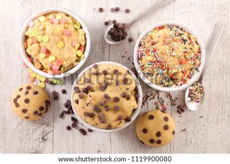 raw dough cookie