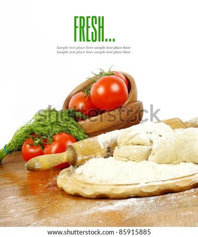 raw dough for cooking dumplings