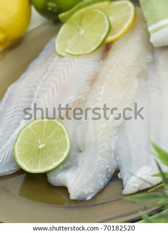 Raw Fish Fillet With Lemon