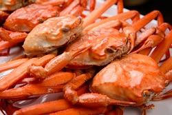 Raw Fish Kingcrab crab food