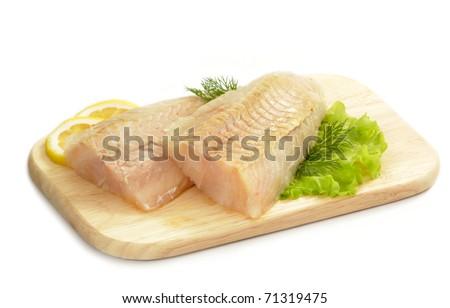 raw fish meat