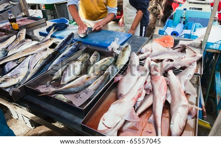 Raw fish ready to cook