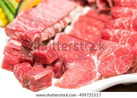 Raw fresh beef #409725517