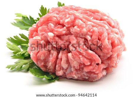 Raw ground beef for burgers