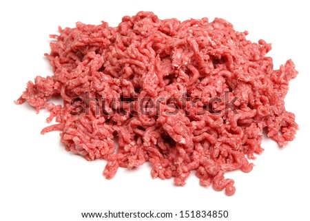 Raw ground beef mince.