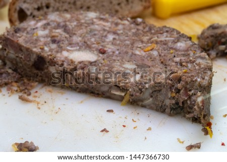 Raw ground beef, minced beef or beef mince #1447366730