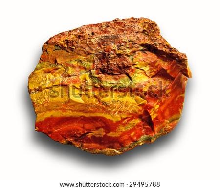 Raw Jasper specimen found near the Cady Mountains in the Mojave Desert, California.